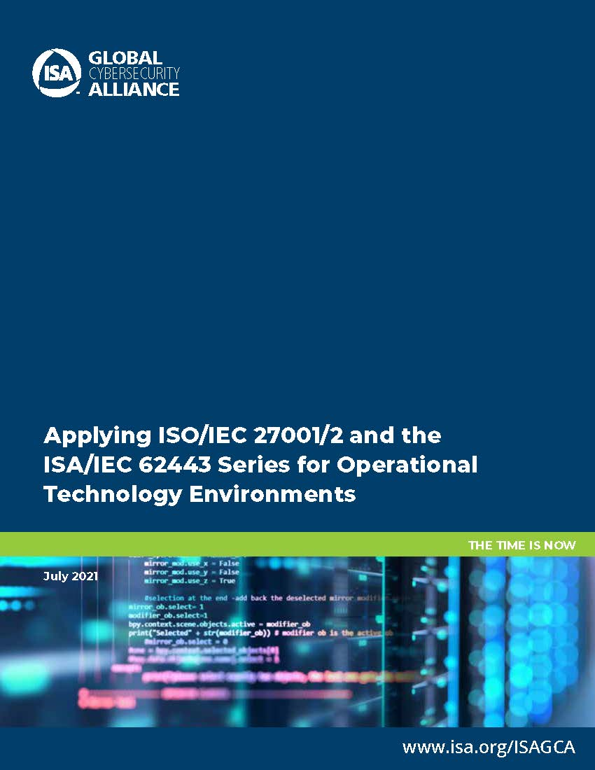 Applying ISO IEC 27001 2 and the ISA IEC 62443 Series White Paper_Page_01